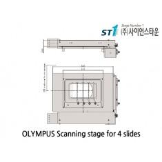 [Olympus Scanning stage] Scanning stage for 4 slides